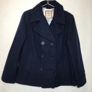 Old Navy Wool Blend Classic Pea Coat